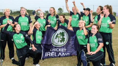 Ireland celebrate winning the World Twenty20 qualifying tournament in Bangkok last month