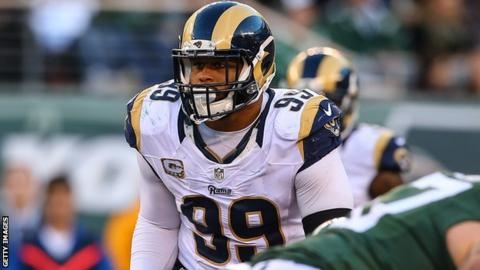 471bc9513 Aaron Donald  Los Angeles Rams defensive tackle signs new  135m contract