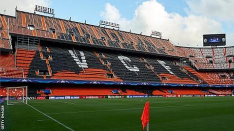 Valencia's Mestalla stadium
