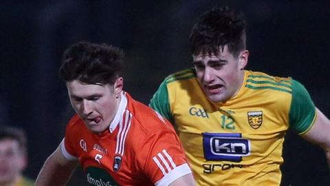Armagh against Donegal in the McKenna Cup semi-final