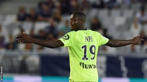 huge selection of f930a 8b70b Ivorian Nicolas Pepe succeeds Kylian Mbappe as player of the ...