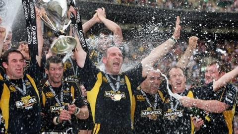 Lawrence Dallaglio led Wasps to their third Premiership title under him in his final season in 2008