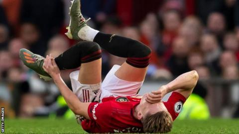 Scott McTominay during Manchester United's win over Brighton