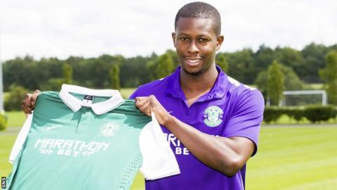 Hibernian midfielder Marvin Bartley