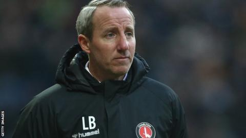 Charlton manager Lee Bowyer on the sidelines