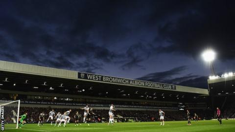 West Brom in action against Chelsea at The Hawthorns