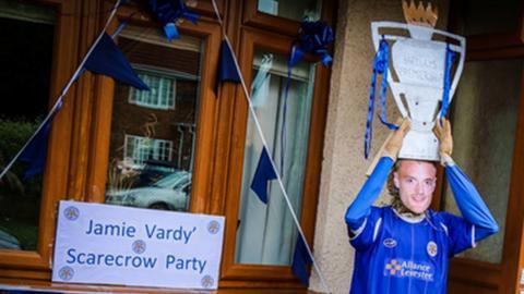 Jamie Vardy scarecrow