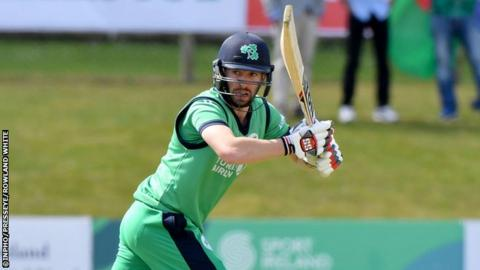 Andrew Balbirnie top scored for Ireland with 74