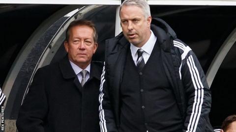 Alan Curbishley and Kit Symons
