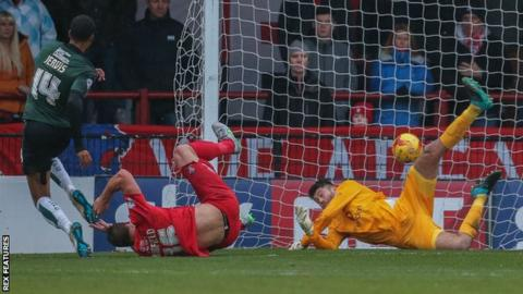 Jake Jervis scores Plymouth Argyle's opener
