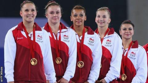 England 2014 Commonwealth Games gymnastics team