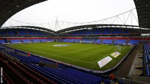 Bolton Wanderers' empty stadium