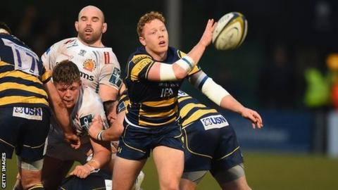 Luke Baldwin played a part in Worcester's 31-21 Anglo-Welsh Cup win over Exeter a fortnight ago