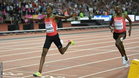 Cheruiyot finished a second behind compatriot Elijah Manangoi in London last August