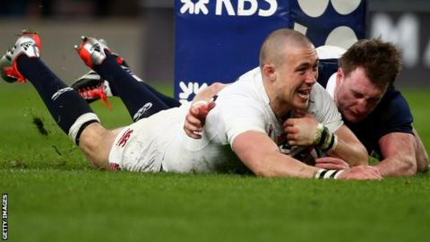 England rugby player Mike Brown