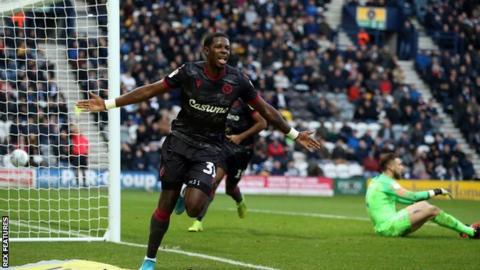 Lucas Joao celebrates scoring for Reading