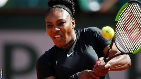 Serena Williams rocks a catsuit at the French Open