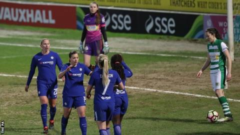 Chelsea Ladies celebrate