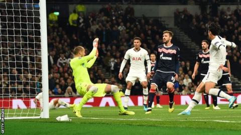 Tottenham 5-0 Red Star Belgrade: Harry Kane & Son Heung-min goals earn first Group B win