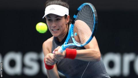 Sydney International: Garbine Muguruza withdraws after suffering thigh injury