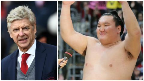 Arsene Wenger & a sumo wrestler