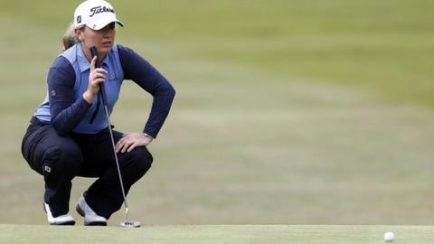 Van Dam, Ryu, Ji share LPGA Tour lead at Lake Merced