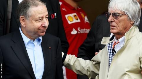 Jean Todt and Bernie Ecclestone