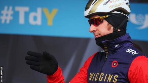 Sir Bradley Wiggins pictured before stage one