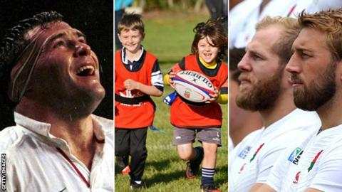 Jason Leonard, James Haskell and Chris Robshaw