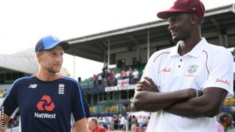 environment England captain Joe Root and West Indies captain Jason Holder