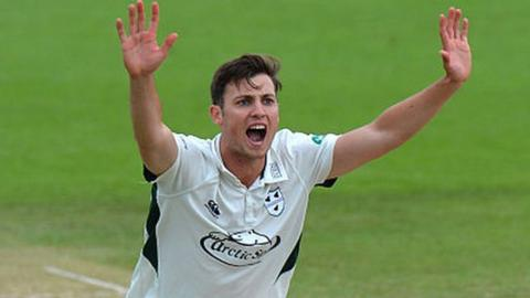 Worcestershire fast bowler Ed Barnard