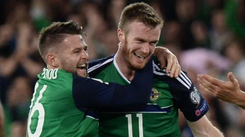 Chris Brunt's free-kick made it 2-0 to Northern Ireland