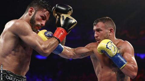Lomachenko (right) could return to the ring on 8 December