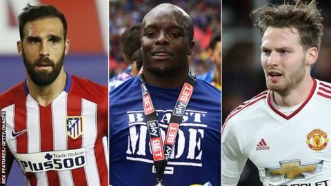 Jesus Gamez, Adebayo Akinfenwa and Nick Powell