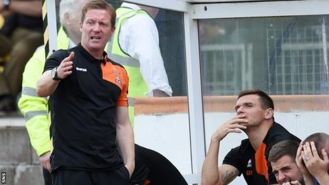 Kilmarnock manager Gary Locke and assistant coach Lee McCulloch