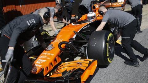 Fernando Alonso testing for McLaren