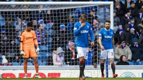 Rangers players looking dejected