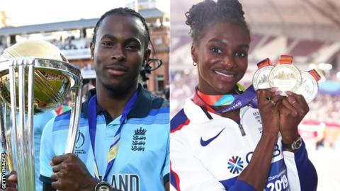 Dina Asher-Smith and Jofra Archer