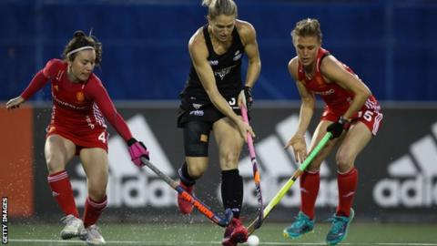New Zealand v England hockey