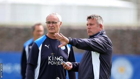 Leicester manager Claudio Ranieri and assistant Craig Shakespeare