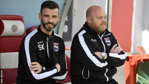 Ross County co-managers Stuart Kettlewell and Steven Ferguson
