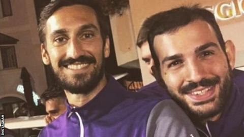 Davide Astori (left) and Riccardo Saponara