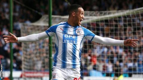 Tom Ince celebrates his goal