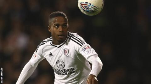 Fulham winger Ryan Sessgnon in action
