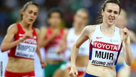 Laura Muir finished fifth in the 1500m final at the World Championships