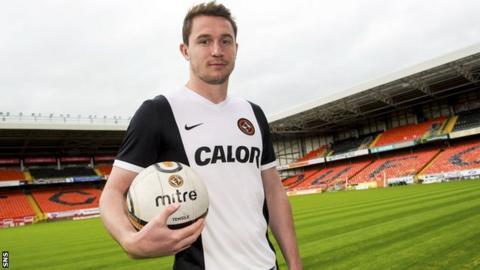 Dundee United defender Callum Morris