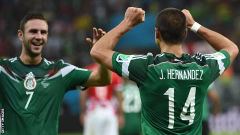 Javier Hernandez and his Mexico international team-mate Miguel Layun