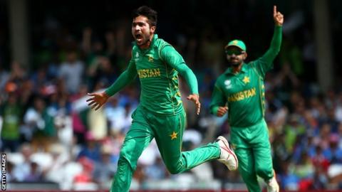 Amir was man of the match when Pakistan beat India in the 2017 Champions Trophy final