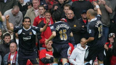 Carlos Tevez celebrates goal