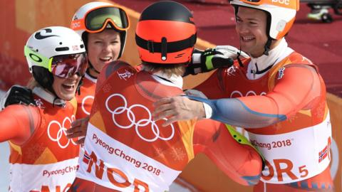 Norway celebrate medal